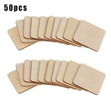 Square Chips Woodworking Writing Handmade Supplies Unfinished Wedding 50pcs