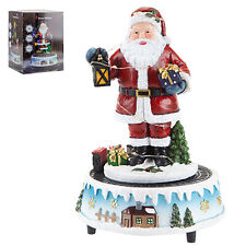 Christmas Light Up Musical Santa Ornament with Moving Train Battery