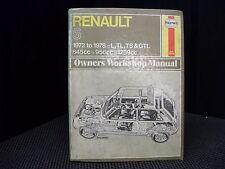Haynes Renault 5 Owners workshop manual, Covers L,TL,TS & GTL 845cc,956cc,1289cc