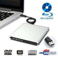 External Blu-Ray Burner Disc CD Player USB 3.0 DVD-RW BD Driver Writer for PC