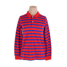 Burberry Polo shirt Red Navy Mens Authentic Used C1525