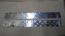 club car ds chrome diamond plate name plate (easy no tool install)
