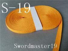 10 M Top Grade Orange Yellow Silk Ito Sageo for Japanese Katana Wakizashi Tanto