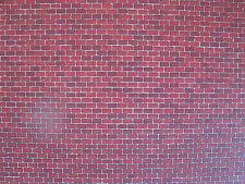 Auhagen 1x 50504 Dekorplatte Ziegelmauer rot HO / tt
