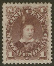 NEWFOUNDLAND 41 1880 1c VIOLET BROWN EDWARD PRINCE OF WALES XF MPH CV$90