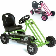 Pedal Go Kart Car Ride on Toy Boys Girls Kids Gocart Rubber Wheel Indoor Outdoor