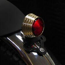 BRAT STYLE RIBBED BRASS LED TAIL LIGHT CAFE RACER STREET FIGHTER BOBBER CHOPPER