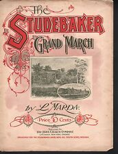 The Studebaker Grand March 1899 Advertising Automobile Sheet Music