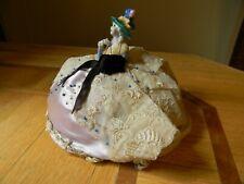 Vintage Porcelain Half Doll Hat Pin Cushion
