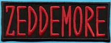Ghostbusters Iron on Name Tag Patch - ZEDDEMORE