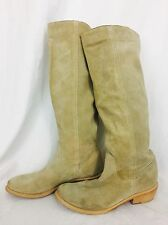 Aldo Suede Leather Knee High Boots Women's Size 38 Tan