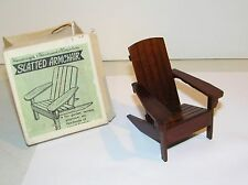 Vintage Dollhouse Wood Miniature Handcrafted Adirondack Chair Outdoor Deck, Lawn