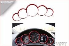 CHROME DASHBOARD DASH GAUGE RINGS DIAL CLUSTER RED FOR PORSCHE CAYENNE PANAMERA