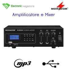 AMPLIFICATORE PA MONO CON LETTORE MP3 INTEGRATO MONACOR IMG PA802USB MIXER
