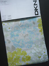 DKNY Floral Fields BLUE TAUPE Yellow (2) WINDOW PANELS CURTAINS 50x96 Tab COTTON