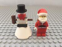 Lego Father Christmas & snowman Minifig Sack Santa Xmas Minifigure snow