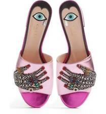 b0a9ee4be Gucci Wangy Jeweled Embellished Mule Slide Sandal Size 38.5