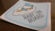 DONALD DUCK  Baby Donald Baby On Board Warning WINDOW DECAL STICKER VINYL SIGN