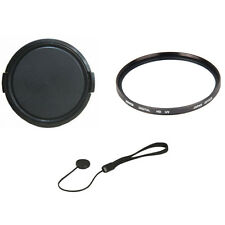 49mm UV Filter + Lens Cap and Lens Leash for Canon 50mm 1.8 STM Lens