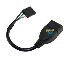 USB 2.0 A Female to 5Pin Female Jack PCB Motherboard USB Header Short Cable