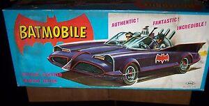 BATMOBILE 1966 TIN TOY ASC JAPAN WITH BOX