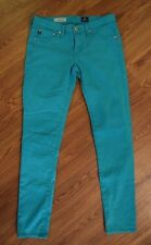 "Adriano Goldschmied ""The Legging Ankle"" Super Skinny Green Jeans Women's Size 26"