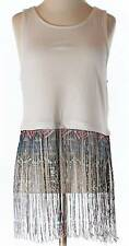 NWT TopShop Fringed Cropped Tank Top Size 6