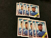 Fred McGriff Toronto Blue Jays (10) card lot. 1988 Topps #463