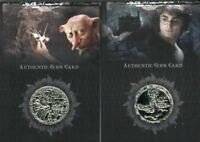 Harry Potter Memorable Moments CC1 and CC2 Silver Prop Card HP Set