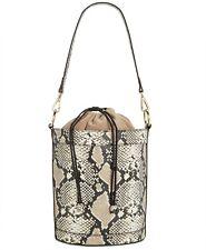 INC International Concepts Averry Snake Drawstring Bucket Bag, Snake, MSRP $79.5