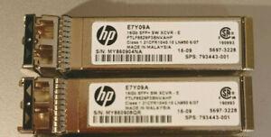 Lot of 2 HP 16GB E7Y09A SFP+ SW XCVR Fibre Channel Transceiver 793443-001