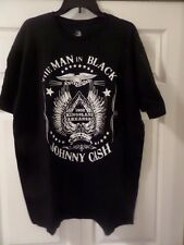 The Man in Black Johnny Cash Graphics T Shirt Zion Men's L New Tags MSRP $20