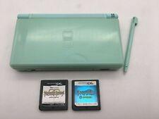 Nintendo DS Lite Console Ice blue + stylus pen + 2 Games Pokemon Japan  #322-2