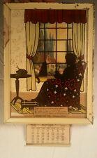Vintage 1939 Calendar Silhouette Home Oil Co Chapman KS Kansas mother love joy