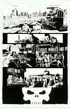 "Punisher #10 Story Page 17 Original Art Marvel 2017 Leandro Fernandez 10.5"" x 15"