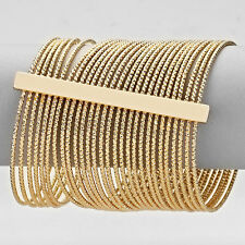 HOT Statement Celeb Layered  Gold Cuff Bangle Bracelet by Rocks Boutique