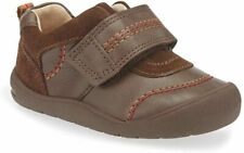 StartRite Boys First Zak Leather Riptape First Walking Shoes / Tan Leather 3F Ne