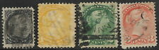Canada, used, #34-#37, Queen Victoria stamps, Issued 1870-1872, CV = $15.25