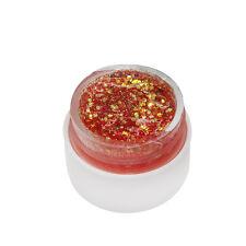8ML DIY Shiny Glitter Powder Glue Nail Polish Soak Off UV Lamp Gel
