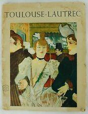 Vintage Henri de Toulouse-Lautrec Great Painters Portfolio Edition Print Book