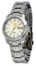 Seiko 5 SNKL77 Men's Stainless Steel White Dial Day Date Automatic Watch