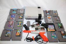 Vintage 1985 Nintendo NES System Console w/ 16 Games,2 Controllers, Zapper Gun