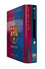 Xbox 360 E GO Console Skin Sticker FC Barcelona Official Barca Merchandise New
