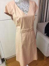 Jaeger peach cotton dress & jacket suit 16-18 for weddings