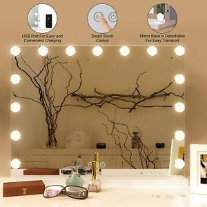 Hollywood Mirror With Lights Dressing Vanity Makeup Desk Table Bright 15 LED