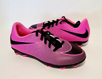 Nike Jr Bravata II FG Soccer Cleats Pink and Black Youth Size 3Y 844442 600