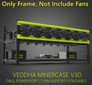 VEDDHA V3D Open Air Mining Rig 8 GPU Miner Frame Stackable Case For ETH ZCash