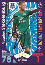 MAARTEN STEKELENBURG SIGNED EVERTON 2016/2017 MATCH ATTAX TRADING CARD+COA