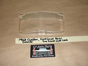 OEM 1962 62 Cadillac Deville FRONT BUMPER CORNER PARK TURN SIGNAL LIGHT LENS