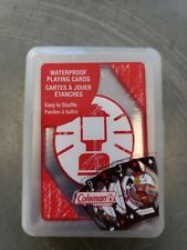 Coleman Lantern Waterproof Playing Cards Sealed With Plastic Case Deck